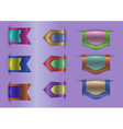 Colorful web ribbons collection vector image vector image