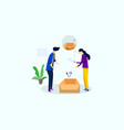 couple with empty box nothing in box vector image vector image