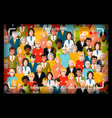 crowd of people group photo shoot concept with vector image vector image
