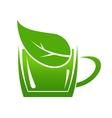 Cup of green bio beverage vector image vector image