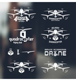 Drone or quadrocopter set of badges vector image
