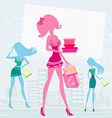 fashion girls Shopping vector image vector image