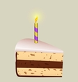 Festive piece of cake vector image vector image