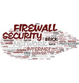 firm word cloud concept vector image vector image