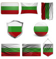 flag bulgaria vector image vector image