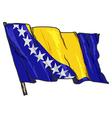 flag of Bosnia vector image vector image