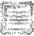 floral corners and borders vector image vector image