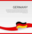 germany flag background wavy ribbon in colors vector image vector image