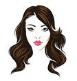 girl hair brunette vector image vector image