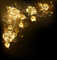 Gold Rose on Dark Background vector image vector image