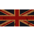 Grunge Old Union Jack Flag vector image