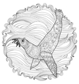 Hand drawn swimming seal with high details vector image vector image