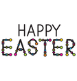 happy easter headline vector image vector image