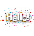 Hello paper background vector image