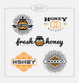 honey bee label set vector image vector image