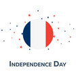 independence day of france patriotic banner vector image
