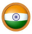 india flag on round button vector image vector image