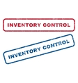 Inventory Control Rubber Stamps vector image vector image