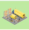 Isometric Warehouse Cargo Industry Worker vector image vector image