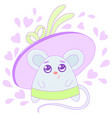 kawaii mouse image design vector image vector image