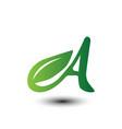 leaf letters symbols vector image