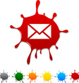 mail blot vector image vector image