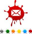 mail blot vector image