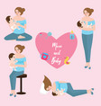 mom baby breast feeding infant care position love vector image vector image