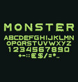 monster type vector image vector image