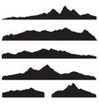 mountains landscape silhouette set abstract high vector image vector image