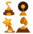 music awards note and vinyl disc star and vector image vector image