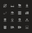 network servers - flat icons vector image