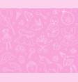 newborn girl baby shower seamless pattern thin vector image