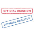 official decision textile stamps vector image vector image