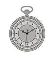 old pocket watch isolated on white background vector image