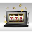 Online gambling concept vector image vector image