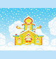 ornate tower on christmas vector image vector image