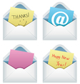 paper notes in envelopes vector image vector image