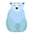 polar white bear arctic animal cartoon character vector image