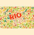 rio 2019 brazilian carnival design template with vector image