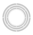 round frame of black and white herringbone border vector image vector image