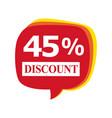 sales discount icon 45 percent discount
