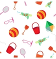 Sea Vacation Seamless Pattern with Toys vector image vector image