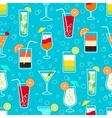 Seamless pattern with alcohol cocktail drinks vector image vector image