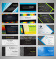set business cards vector image