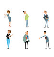 set funny characters vector image vector image