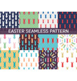 set of 12 seamless pattern easter greeting with vector image vector image
