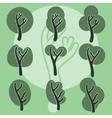 Set of cute doodle trees original cartoon tree vector image vector image