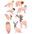 set stylized animals collection cartoon vector image vector image