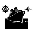 ship on the water vector image vector image